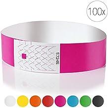 Personalisiert und wasserdicht Orange 100 St/ück Events Armb/änder Plastik Armb/änder