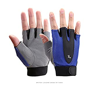 J&DS Weight lifting gloves Fingerless Breathable Anti-slip Crossfit gloves For workout,Fitness,Cross training-C L