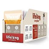 Marque Amazon- Lifelong Aliment complet pour chats adultes- Sélection à la viande en sauce, 9,6 kg (96 sachets x 100g)