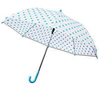Polka Dot Unisex Stick Umbrella Brolly Quick Release