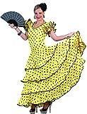 Flamenco Kleid zum Samba Kostüm für Damen Gr. 44 46 - Tolles Spanierin Brasilianerin Tänzerin Kleid