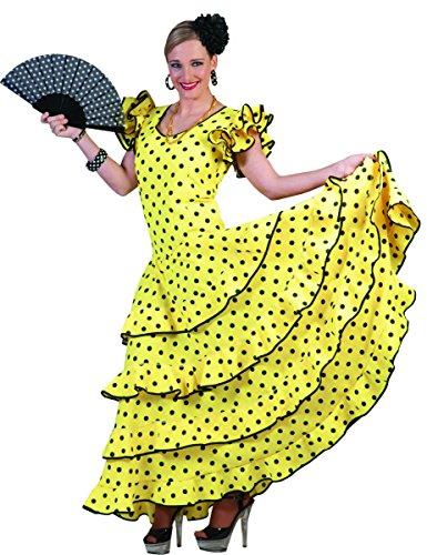 Tänzerin Brasilien Kostüm - Flamenco Kleid zum Samba Kostüm für Damen Gr. 44 46 - Tolles Spanierin Brasilianerin Tänzerin Kleid