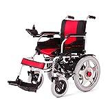 Jian E - & Elektrorollstuhl, Senioren-Rollstuhl für Behinderte, tragbarer vierrädriger Krankenwagen /- (Farbe : Blau)