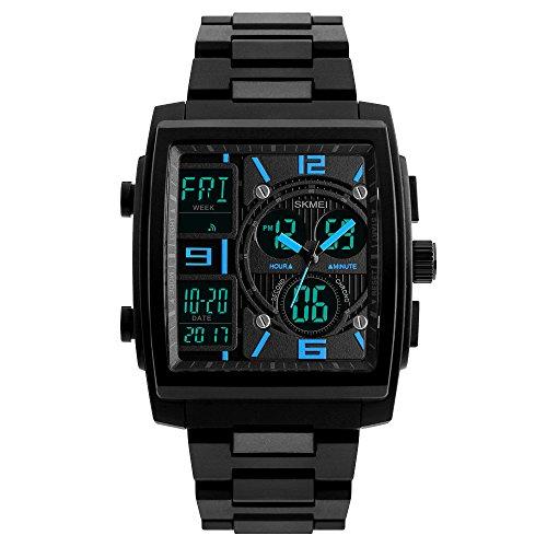 SKMEI Herren Digitaluhr Armbanduhren 5ATM Wasser Beständige