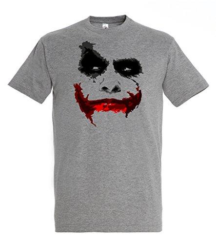 TRVPPY Herren T-Shirt Modell JOKER in verschiedenen Farben, Gr. S-5XL Graumeliert