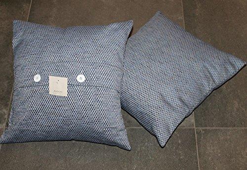 Copri cuscino arredo zucchi easy chic ring col.6 blu cm 40 x 40 sfoderabile cuscini letto divano