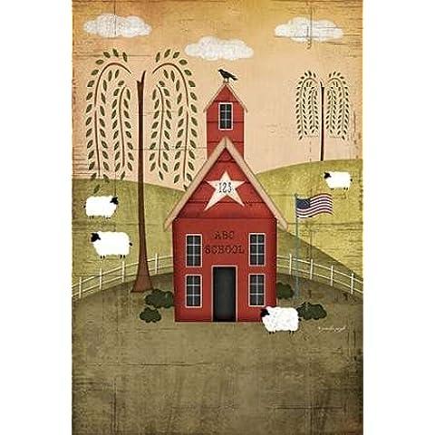 Feeling at home, Stampa artistica x cornice - quadro, fine art print, Scuola Primitive cm 94x64