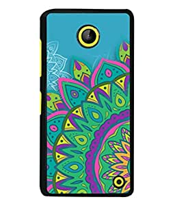 PrintVisa Designer Back Case Cover for Microsoft Lumia 630 (Jaipur Rajasthan Tribal Azitec Mobiles Indian Traditional Wooden)