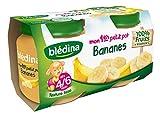 Blédina ComPote Bébé Mon 1er Petit Pot Bananes dès 4/6 mois 130 g x 2 - Lot de 6