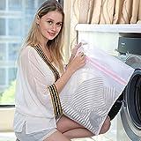 FOWLAN® Wäschenetz 4 Stück wäschenetze wasserdicht faltbar Wäschesack Wäschetasche Wäschebeutel für Waschmaschine BH Unterwäsche Socken Strumpfhosen Babysachen