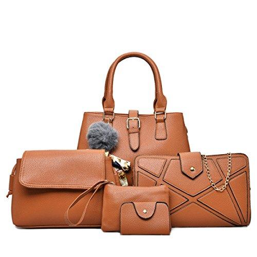Damen Handtaschen Sommer Europa Und Amerika Spliced Blöcke Damen Clutch Schulter Diagonale Tasche Brown