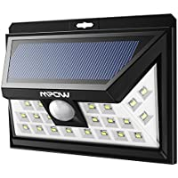 Mpow Solar Lights Motion Sensor Security Lights, 24 LED Solar Powered Light, Walkway Lighting Wireless Waterproof Security Light for Patio, Deck, Yard, Garden, Driveway, Outside Wall ( 3 Modes Motion Activated, Wide Angle Sensor )