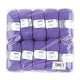 Gründl 760-43 Lisa Premium Wolle, Polyacryl, lila, 32 x 27 x 6 cm