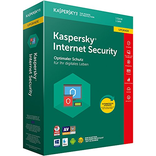 Kaspersky Internet Security 2018 Upgrade, 1 Gerät, 1 Jahr, Windows/Mac/Android, Download