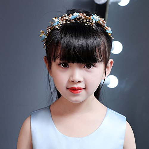 eit Ballsaal Haarnadel Haarschmuck Mädchen Hochzeit Kleid Accessoires Accessoires Kopfschmuck Blume Mädchen Leistung Kostüm Tanz Kopfschmuck Pink B (Ballsaal Tanz Kostüme)