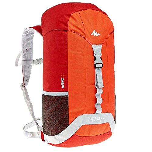 Rucksack 30 Liter rot zum Wandern, Trekking, Radfahren, Reisen oder Spazieren