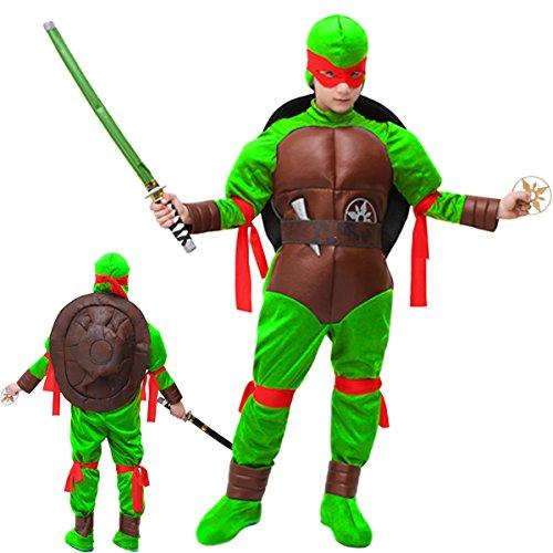 Vestito costume maschera di carnevale bambino - tartaruga ninja - taglia 10/11 anni - 123 cm