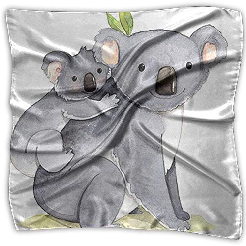 Imagen de the koala mother carries a koala baby.png square scarfs for women scarve head wrap shawl