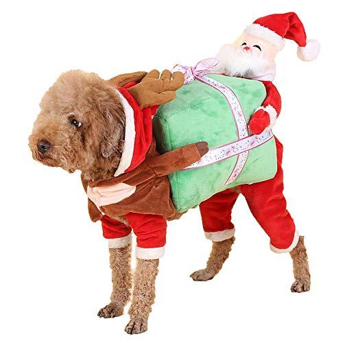 Große Hunde Kostüm Santa Extra - Kaxich Haustier Weihnachtsmann Kostüme Hund Katze Weihnachtskleidung Lustige Santa Claus Kleidung Winter Hundekostüm Welpen Kostüm