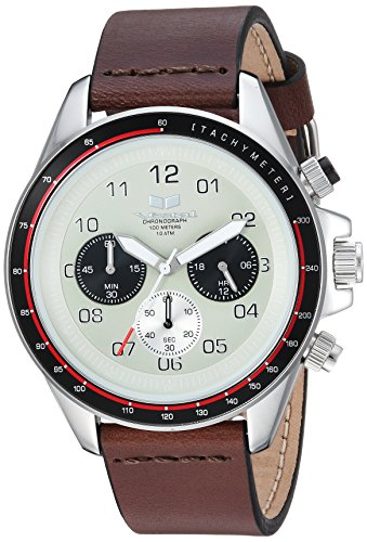 Vestal 'ZR2' Quartz Stainless Steel and Leather Casual Watch, Color:Brown (Model: ZR243L03.DB)