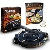 Tortillada - Prensa de Hierro Fundido para Hacer Tortillas + Recetas (20cm)