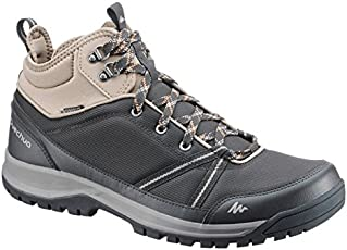 Quechua NH300 Mid Waterproof Men's Nature Hiking Boots - Black