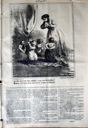 CHARIVARI (LE) du 10/02/1868 - LA SEMAINE DE LA BOURSE