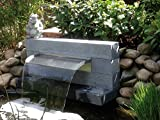 Edelstahl Wasserfall 45 cm , Wasserspeier,Bachlauf,