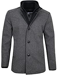 Jack & Jones Gene lana Jacket abrigo gris oscuro