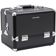Songmics® maletin maquillaje profesional Con cerradura negro JBC225B