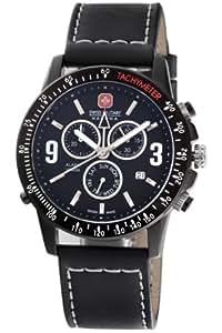 Swiss Military Hanowa Hommes 06-4143-13-007 Revanche chronographe noire avec cadran