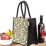 #6: H&B Lunch bag (leaf,black, Size: 11x9x6 inches )