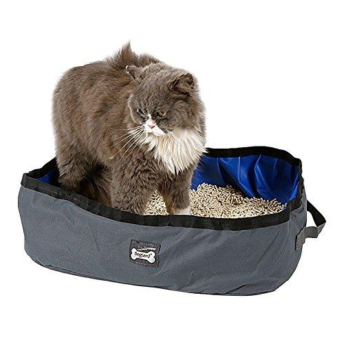 Butterme tragbar faltbar Reisen Pet Katzenstreu, Outdoor Katze Box, 46x 35cm x 14cm,...