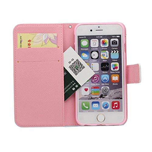 Pour iPhone 6 / iPhone 6S 4.7�?Coque Étui de Protection Poids léger Rabat Case avec Portefeuille Fonctionnalité, Créatif Imprimé Peinture style Elégant Belle Apparence A3