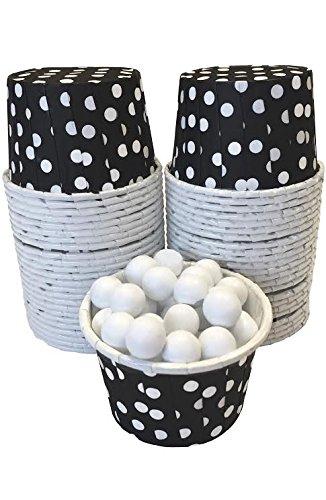 Candy Mutter Mini Backpapier Treat Cups-Schwarz Weiß-Polka Dot-48Stück (Tassen Schwarzen Weißen Polka Dot Und)