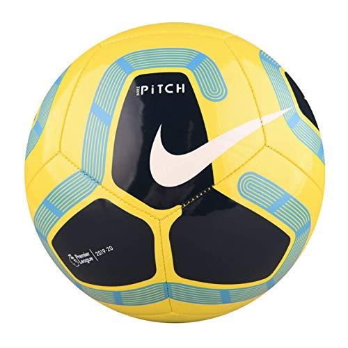 Nike Pitch Premier League Fútbol 2019-2020, Amarillo/Azul, Talla 5