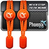 Phoenix Fit UK No Tie Elastic Lace System with Lock - Easy to install in a range of colours. Great for runners, children, older generation & active lifestyles - 1 Pair