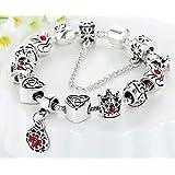 Silver 925 Europe Charm Bracelet Bangle Pandora style gift for women