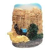 Chameau Maroc Aimant du Réfrigérateur 3D Résine Fait À La Main Artisanat Touristique Voyage Ville Souvenir Collection Lettre Réfrigérateur Autocollant