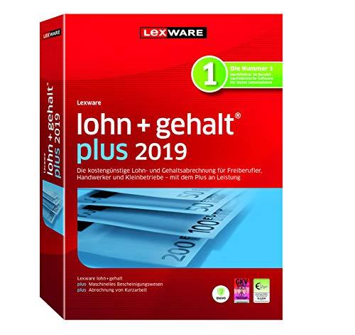 Lexware lohn+gehalt 2019 plus-Version Minibox (Jahreslizenz)|Einfache Lohn- und Gehaltsabrechnungs-Software für Freiberufler, Handwerker und Kleinbetriebe|Kompatibel mit Windows 7 oder aktueller