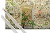 1art1 Poster + Hanger: Mauern Poster (91x61 cm) Romantische Garten-Mauer Inklusive Ein Paar Posterleisten, Transparent