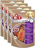8in1 Fillets Pro Active Größe S (funktionale Leckerlies für Hunde, Hähnchensnack mit speziellem Nutri-Center zur Unterstützung der Mobilität), 4er Pack (4 x 80 g)