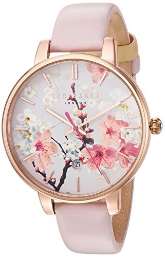 Ted-Baker-Womens-KATE-Quartz-Stainless-Steel-and-Leather-Dress-Watch-ColorPink-Model-10031544