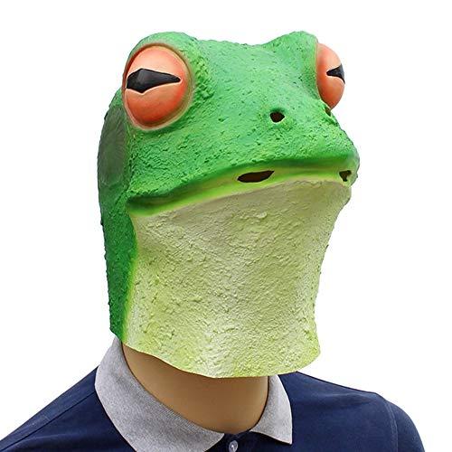 Kind Deluxe Kostüm Frosch - SAILORMJY Maske Halloween, Cosplay Maske Halloween Neuheit Deluxe Tierkopf Maske Frosch Latex Maske Horror Lustige Ökologische Latex Maske Erwachsene Maske