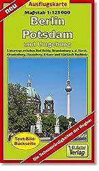 Ausflugskarte Berlin, Potsdam und Umgebung: Unterwegs zwischen Bad Belzig, Brandenburg an der Havel, Oranienburg, Strausberg, Erkner und Märkisch Buchholz. 1:125000