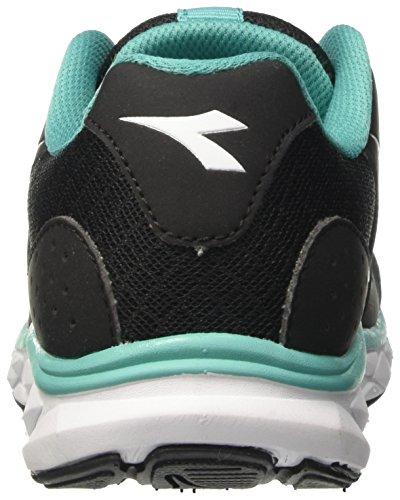 Diadora Hawk 7 W, Chaussures de Course Femme Noir (Nero Jet/bianco)