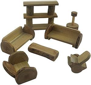 Lichee Toys 105010-Salón Muebles en Bolsa de algodón para niños pequeños