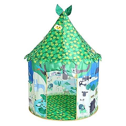 SESO UK- Prince Or Princess Summer Mushroom Enfants Enfants Play Tent House Crawling Jardin intérieur ou extérieur Jouet Playhouse Beach Sun Pop Up Tente Maison Garçons Filles