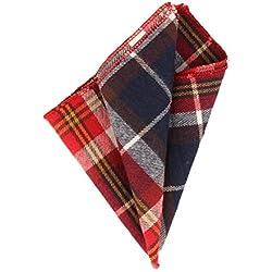 Andrews & Co. Pañuelo de tela escocesa Azul marino Rojo Blanco Amarillo