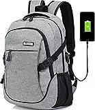 LHZY Computer Rucksack wasserdicht Polyester Business Laptop Rucksack mit USB-Ladeanschluss und passt unter 17-Zoll-Laptops und Notebooks
